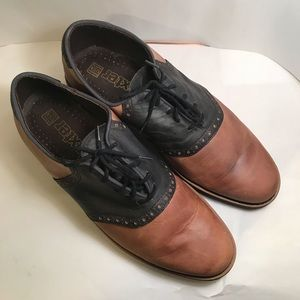VINTAGE DEXTER USA saddle shoes.  Two tone 9.5M